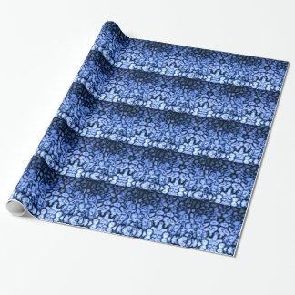Papel De Presente Ágata azul