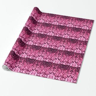 Papel De Presente Ágata cor-de-rosa