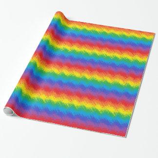 Papel De Presente Agitando o arco-íris