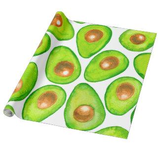Papel De Presente Aguarela das fatias de abacate