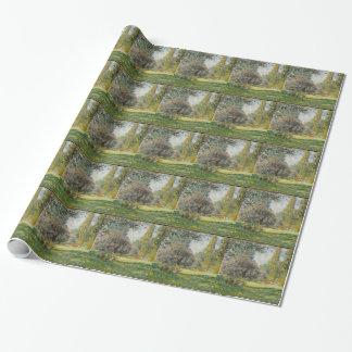 Papel De Presente Ajardine o Parc Monceau - Claude Monet