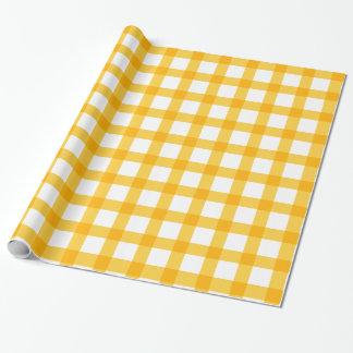 Papel De Presente Amarelo
