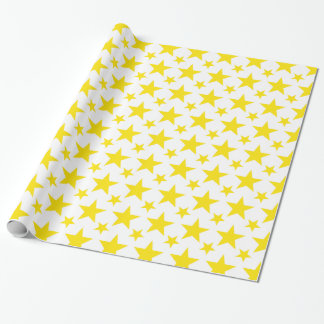 Papel De Presente Amarelo da estrela 2
