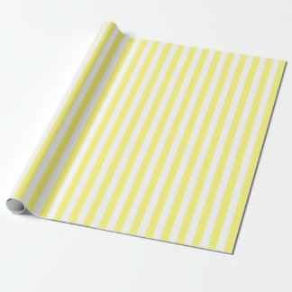 Papel De Presente Amarelo e branco listrados