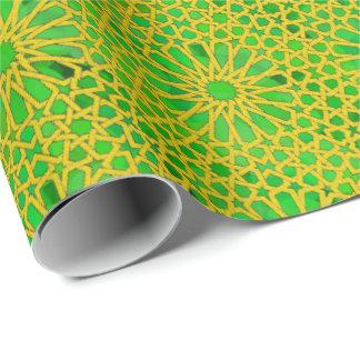 Papel De Presente Amarelo e verde de Tirazut