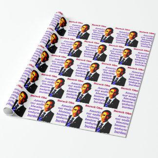 Papel De Presente América nossas bênçãos infinitas - Barack Obama