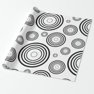 Papel De Presente Anéis preto e branco simples