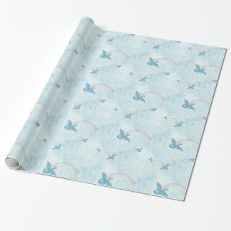 Papel De Presente Arco-íris do Bluebird - nuvens azuis
