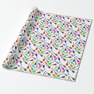 Papel De Presente Arco-íris do Ukulele