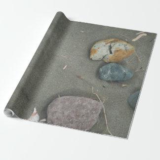 Papel De Presente areia e pedras da praia