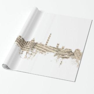 Papel De Presente Arquitectura da cidade da partitura da skyline do
