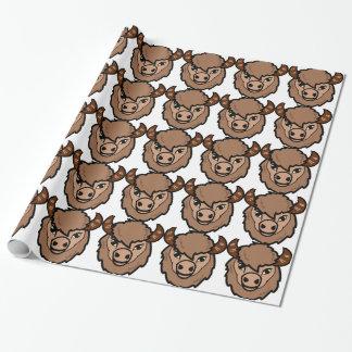 Papel De Presente arte da cara do bisonte