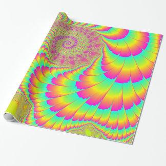 Papel De Presente Arte espiral infinita psicadélico brilhante do