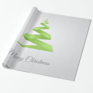 Papel De Presente Árvore de Natal simples da fita do Natal