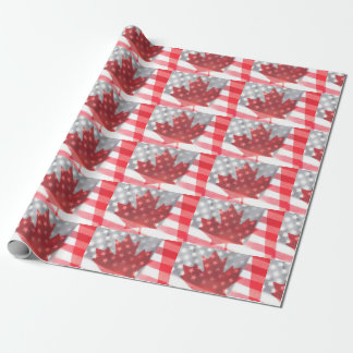 Papel De Presente As bandeiras transparentes de Canadá e de EUA