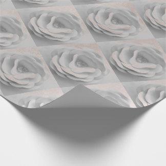Papel De Presente As flores pulverizam o rosa que branco o ouro cora
