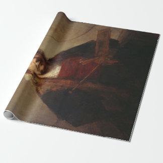 Papel De Presente Auto-Retrato de Rembrandt com dois círculos