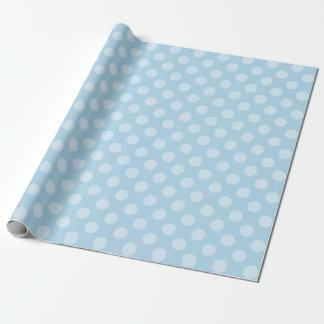 Papel De Presente Azul-céu com bolinhas dos azuis bebés