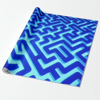 Papel De Presente Azul do labirinto