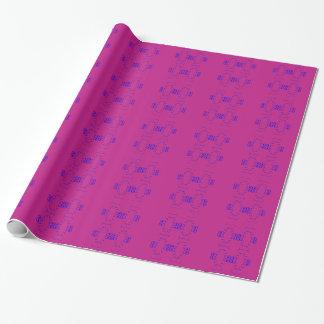 Papel De Presente Azul do rosa dos elementos do design