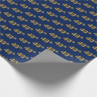 Papel De Presente Azul, evento do ouro 40th do falso (quadragésimo)