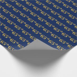 Papel De Presente Azul, evento do ouro 65th do falso