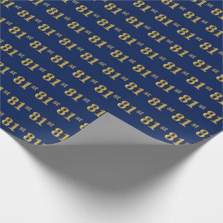 Papel De Presente Azul, evento do ouro 81st do falso
