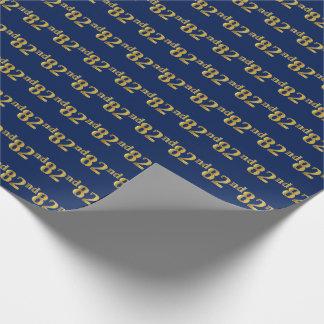 Papel De Presente Azul, evento do ouro 82nd do falso