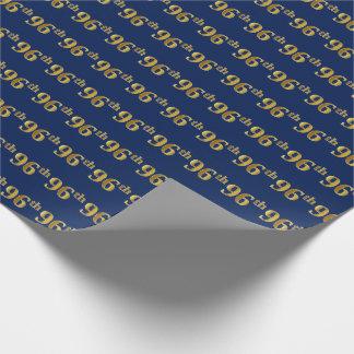Papel De Presente Azul, evento do ouro 96th do falso (Ninety-Sexto)