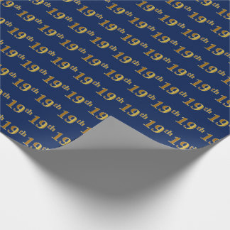 Papel De Presente Azul, evento do ouro do falso 19o (décimo nono)