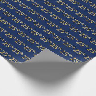 Papel De Presente Azul, evento do ouro do falso 25o (vigésimo