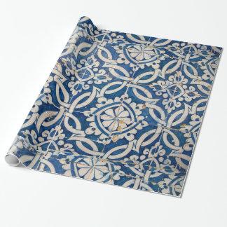 Papel De Presente Azulejo do português do vintage