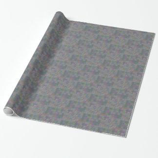 Papel De Presente Azulejos da serra de vaivém do mosaico no jade