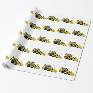 Papel De Presente Backhoe