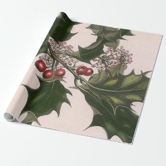 Papel De Presente bagas do azevinho