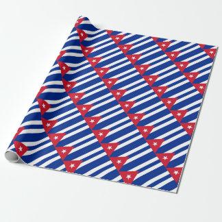 Papel De Presente Baixo custo! Bandeira de Cuba