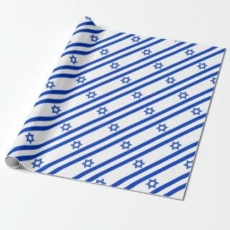 Papel De Presente Baixo custo! Bandeira de Israel