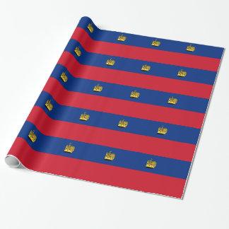 Papel De Presente Baixo custo! Bandeira de Liechtenstein