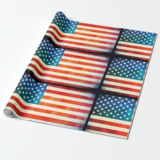 Papel De Presente Bandeira americana