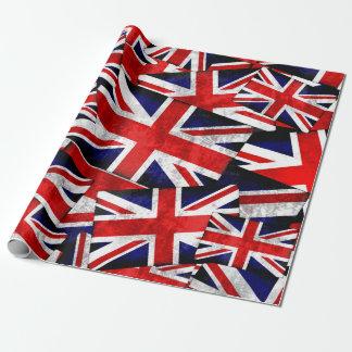 Papel De Presente Bandeira britânica de Union Jack Inglaterra Reino