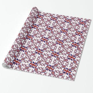 Papel De Presente Bandeira BRITÂNICA de Union Jack nas camadas