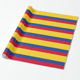 Papel De Presente Bandeira colombiana
