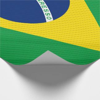 Papel De Presente Bandeira de Brasil