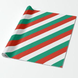 Papel De Presente Bandeira de Bulgária ou de búlgaro