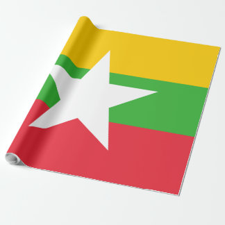 Papel De Presente Bandeira de Burma
