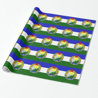 Papel De Presente Bandeira de Cascadia socialista