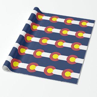 Papel De Presente Bandeira de Colorado