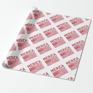Papel De Presente Bandeira de Merica