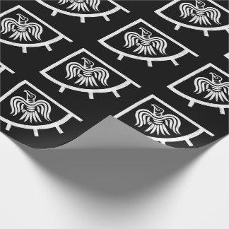 Papel De Presente Bandeira de Viking da bandeira do corvo