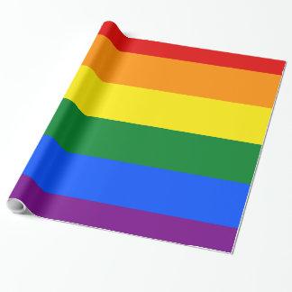 Papel De Presente Bandeira do arco-íris